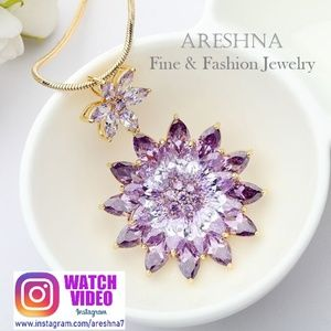 Swarovski Crystals Violet Pendant Necklace